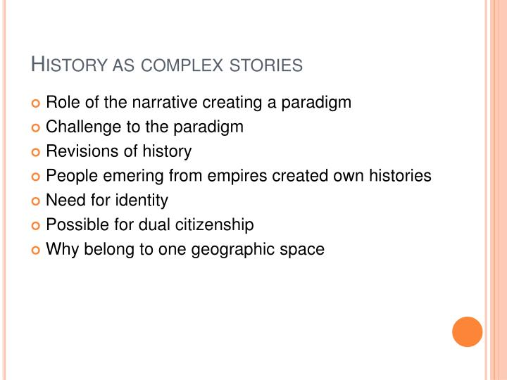 History as complex stories