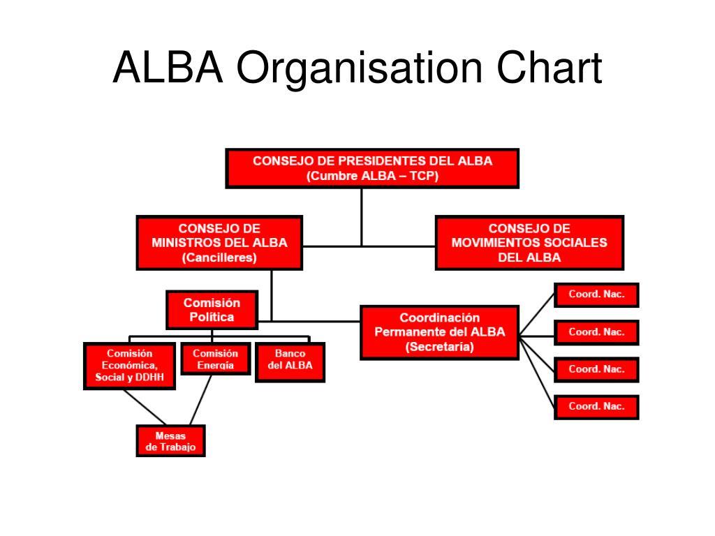ALBA Organisation Chart