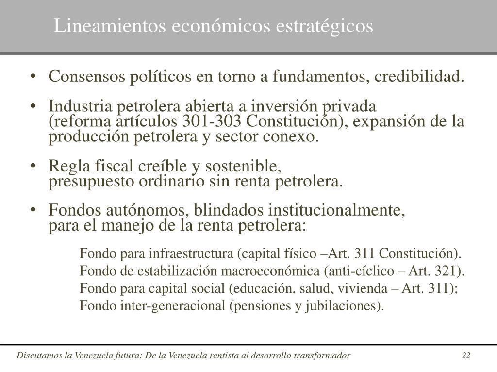 Lineamientos económicos estratégicos