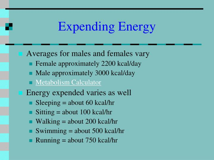 Expending Energy
