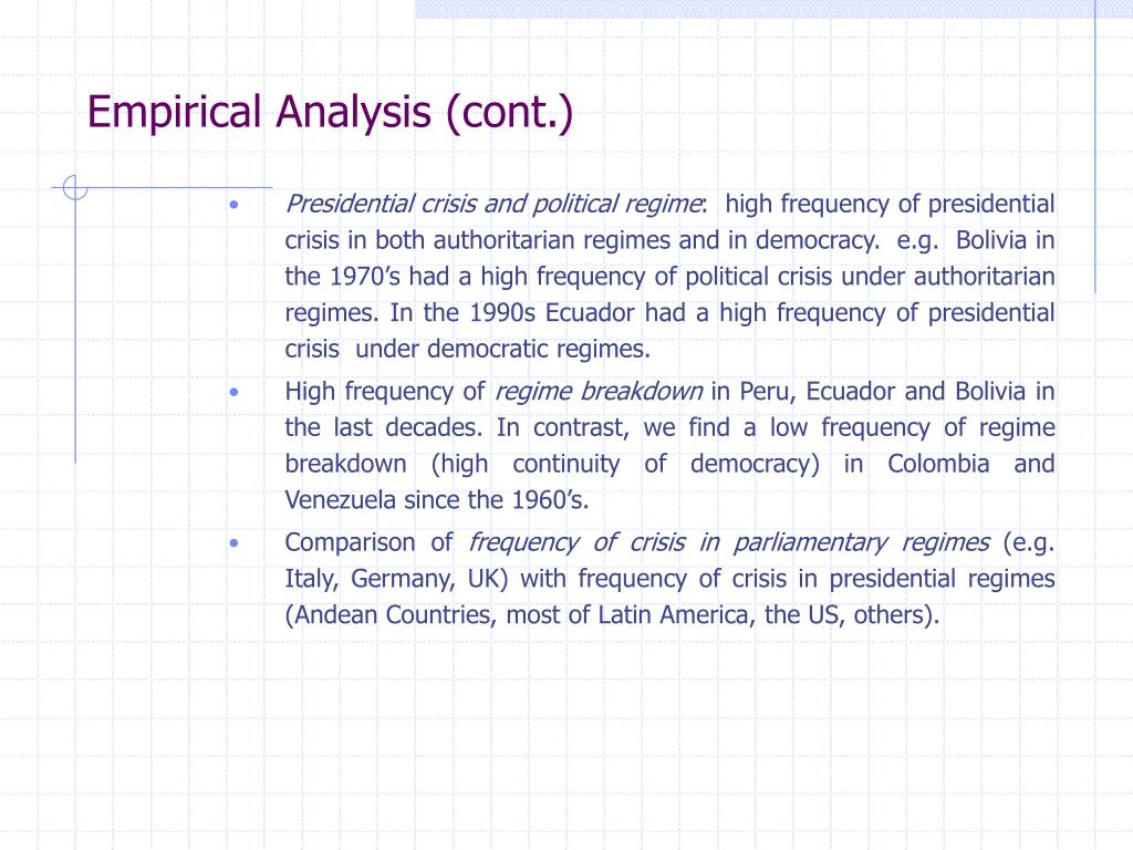 Empirical Analysis (cont.)