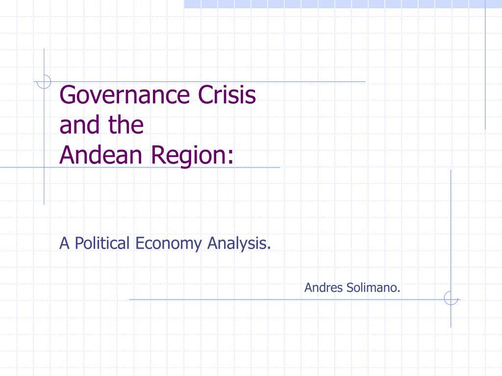 Governance Crisis
