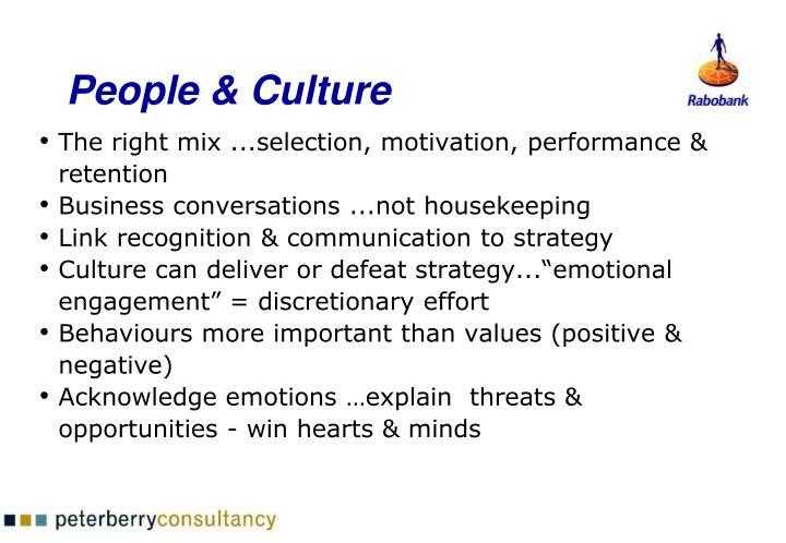 People & Culture