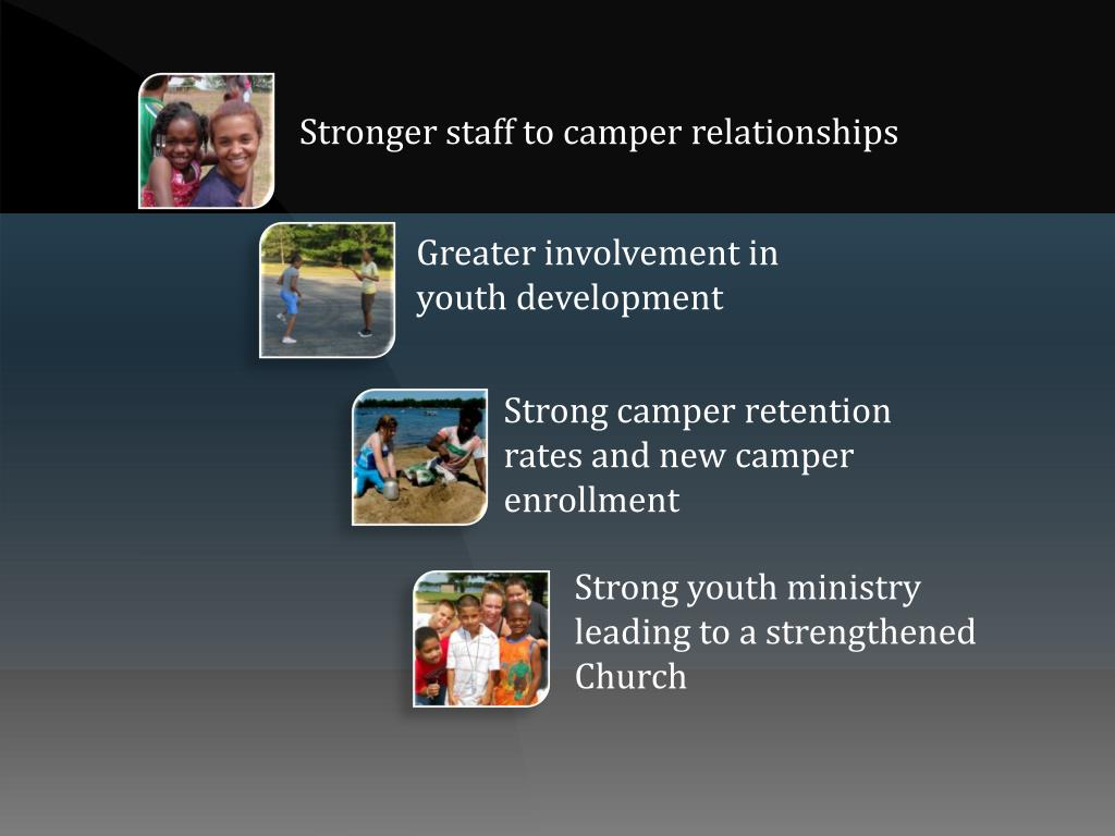 Stronger staff to camper relationships