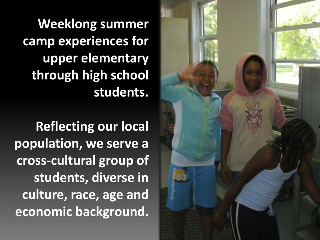 Weeklong summer camp experiences for upper elementary through high school students.