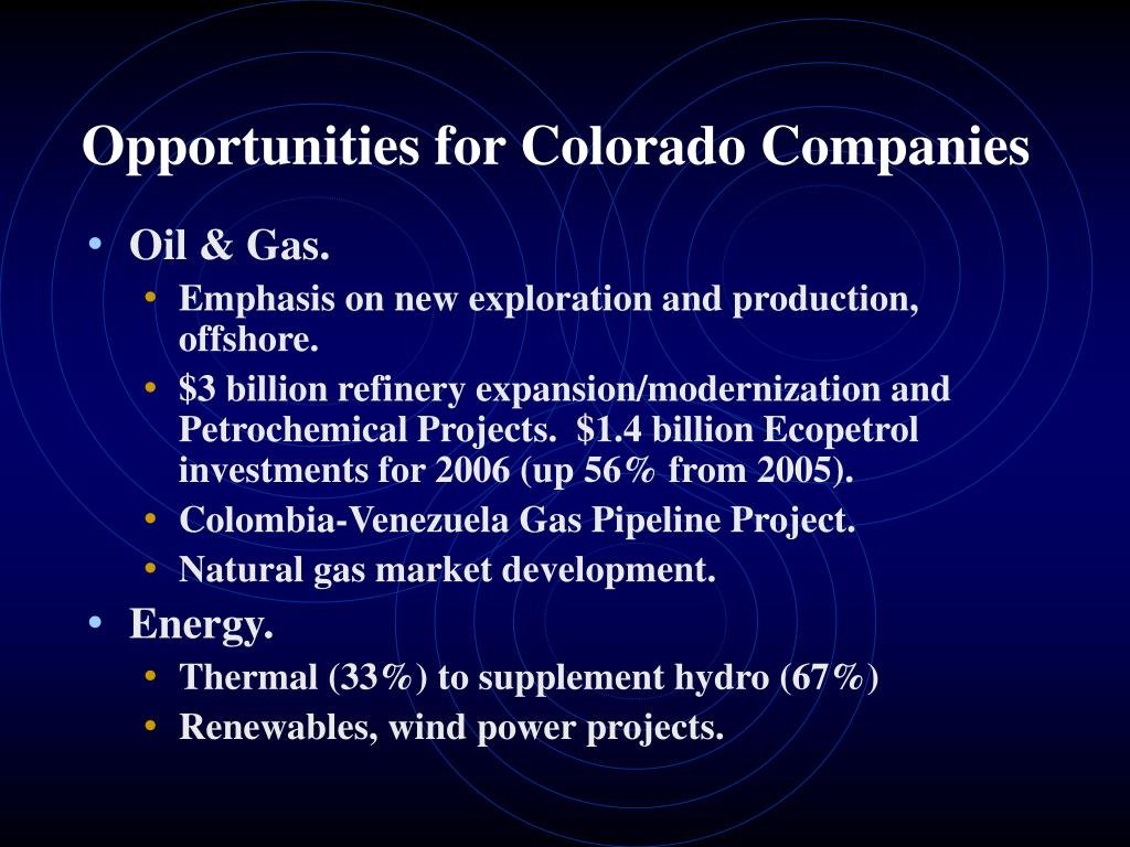 Opportunities for Colorado Companies