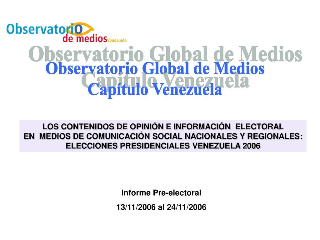 Observatorio Global de Medios