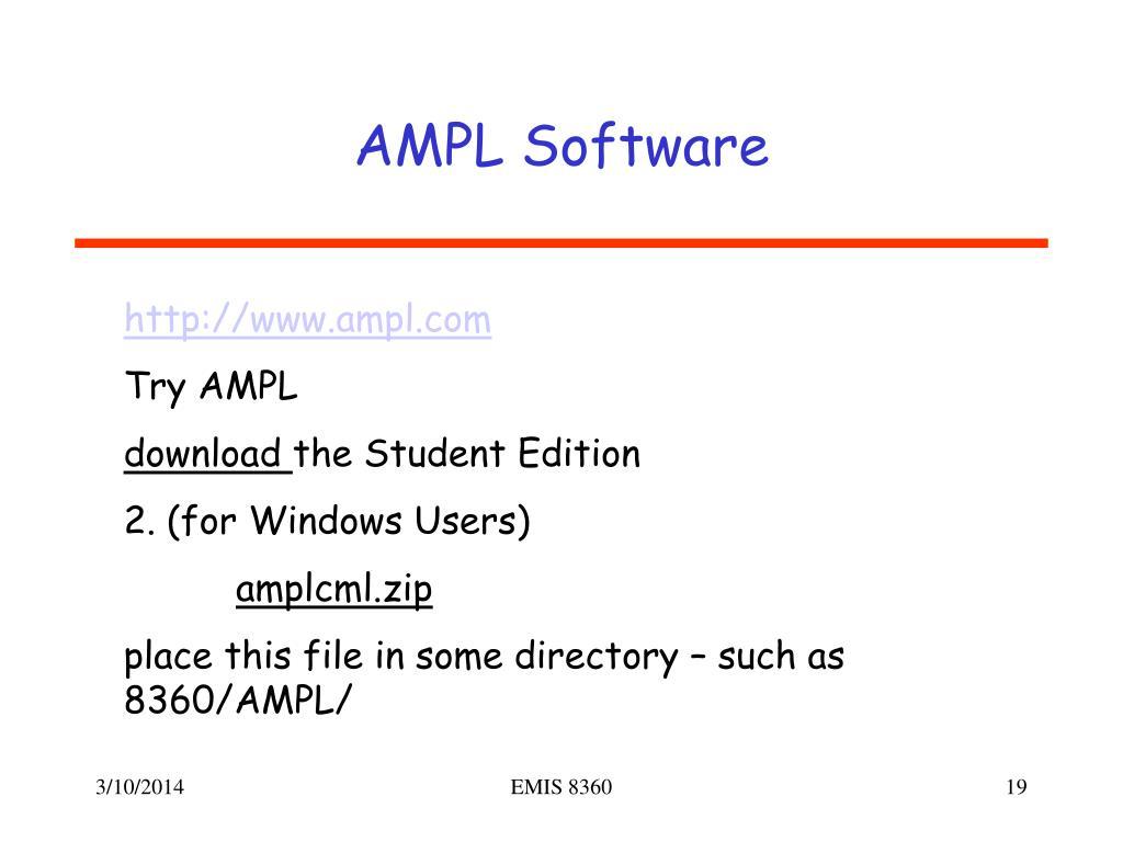 AMPL Software