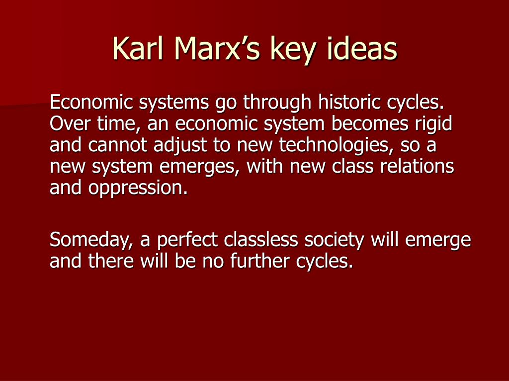 Karl Marx's key ideas