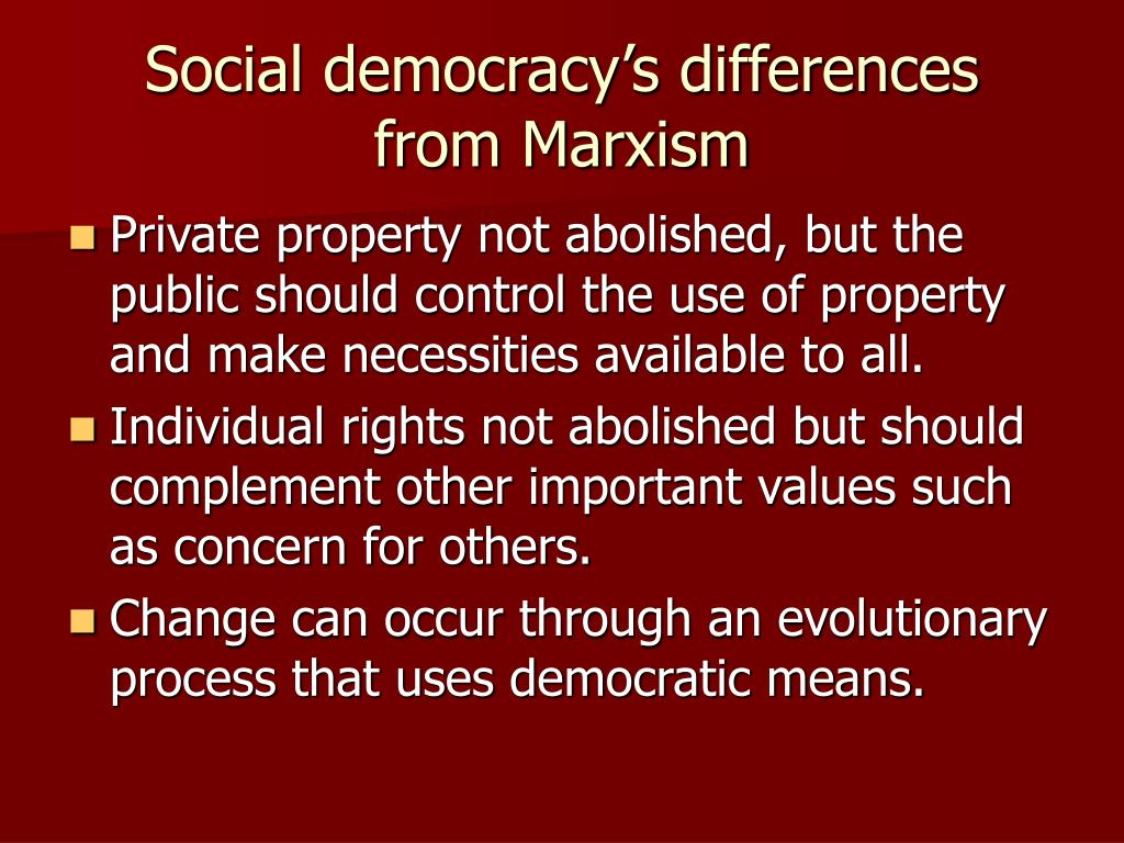 Social democracy's differences