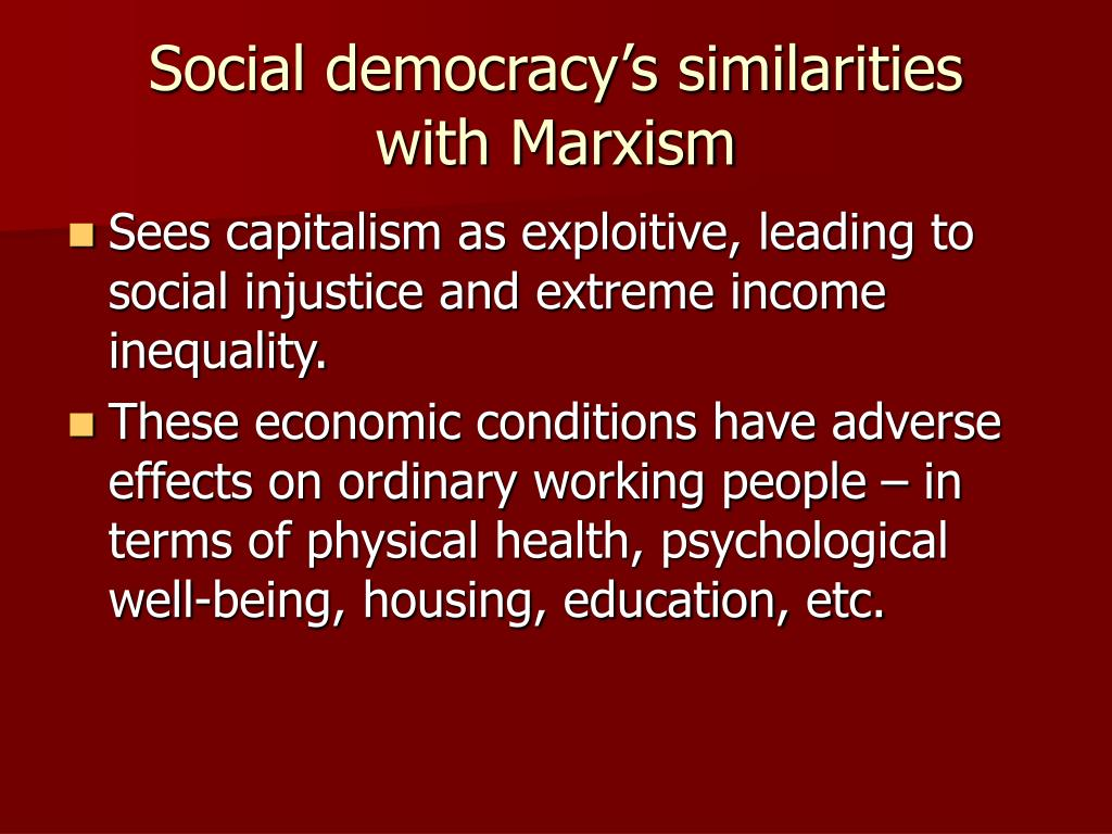 Social democracy's similarities