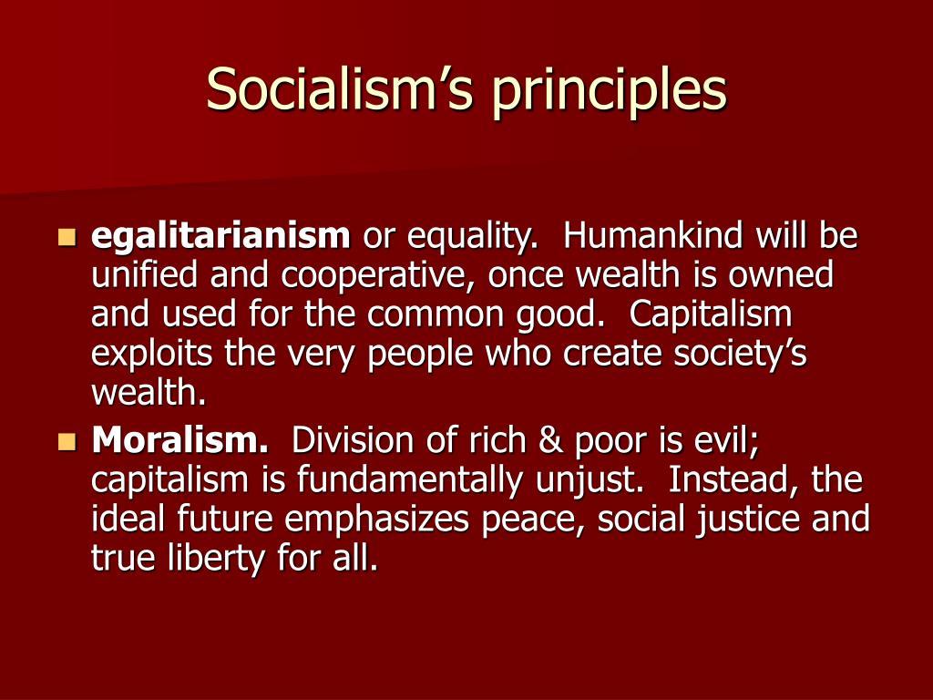 Socialism's principles