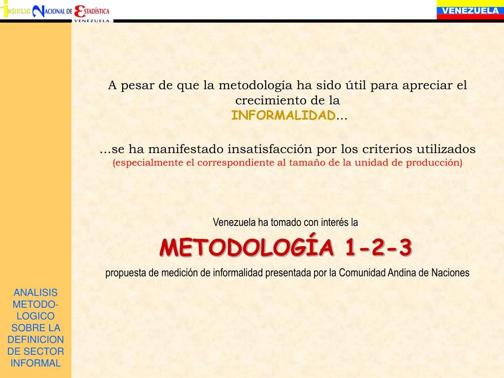 ANALISIS METODO-LOGICO SOBRE LA DEFINICION DE SECTOR INFORMAL