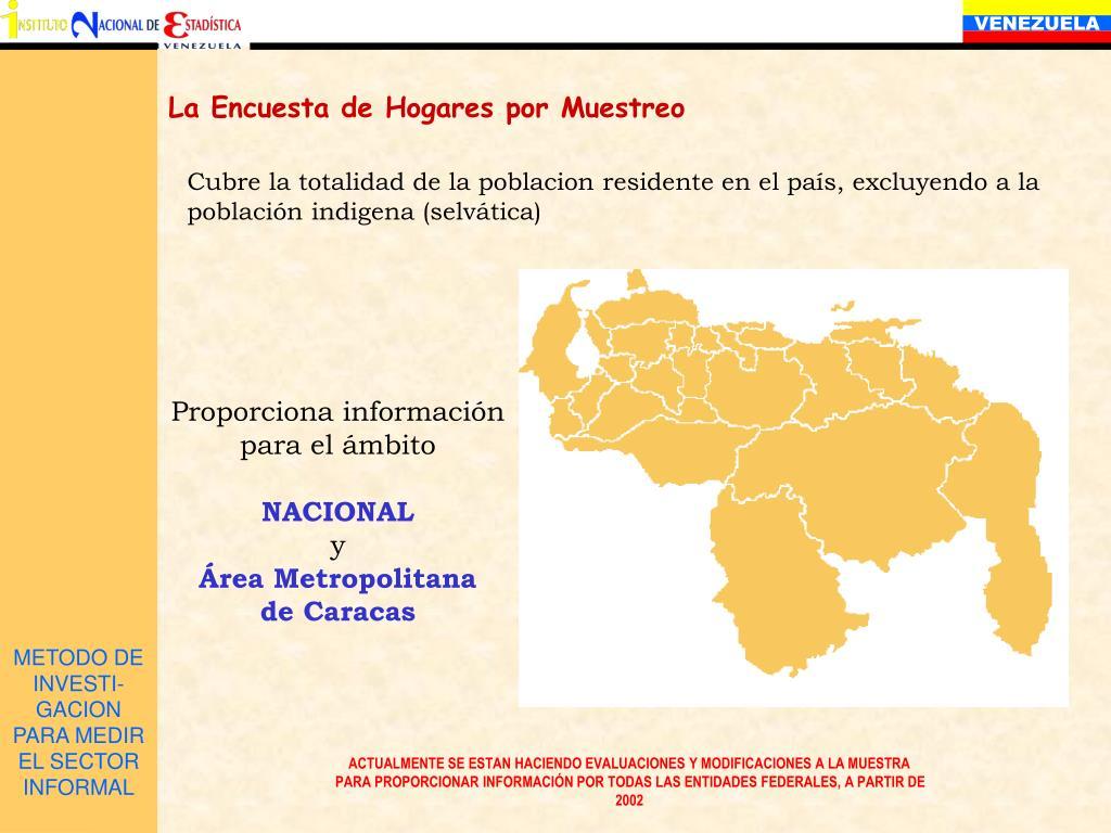 METODO DE INVESTI-GACION PARA MEDIR EL SECTOR  INFORMAL