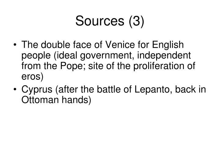 Sources (3)
