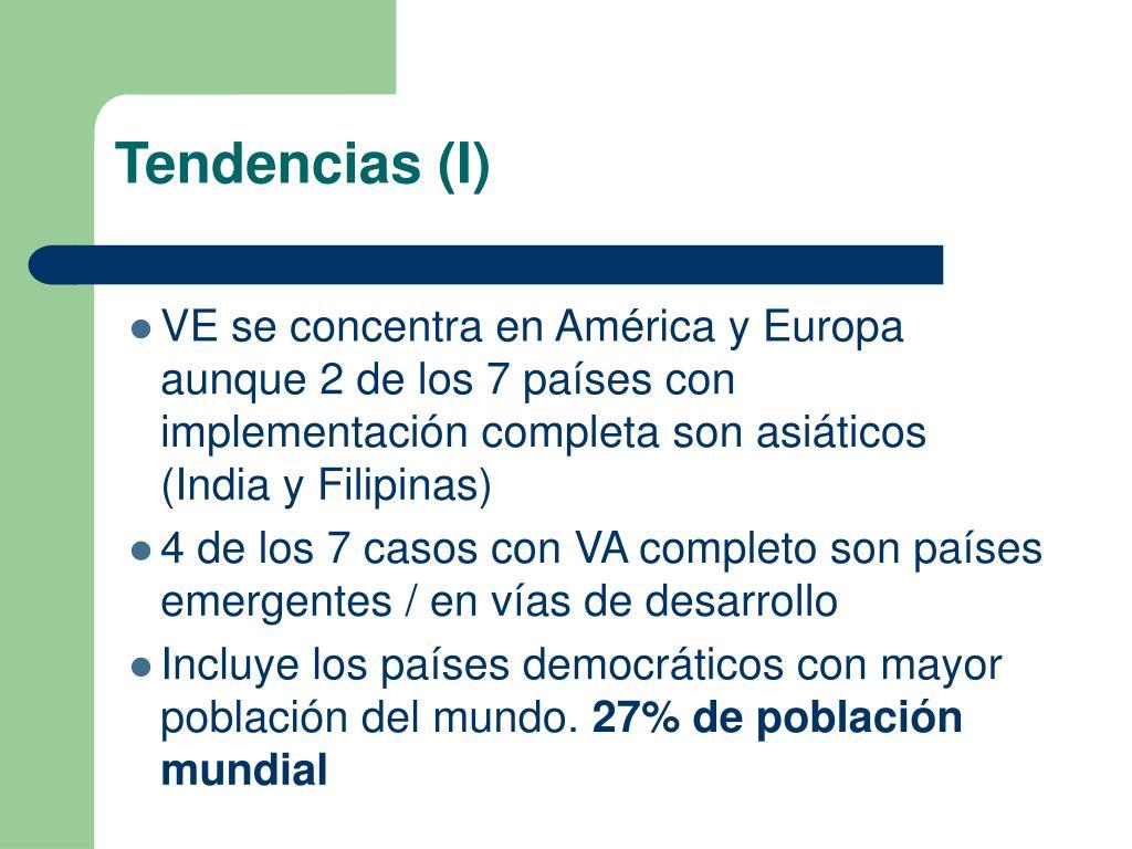 Tendencias (I)