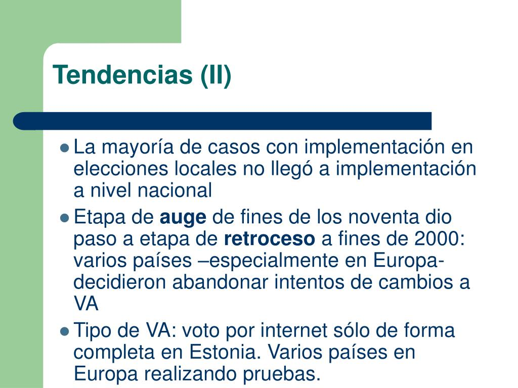 Tendencias (II)