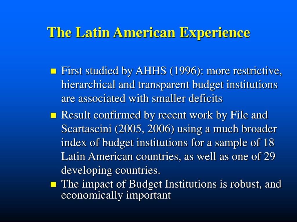The Latin American Experience