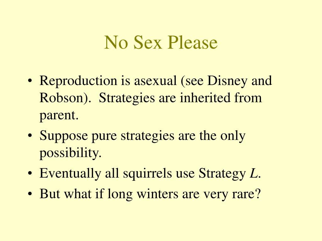 No Sex Please