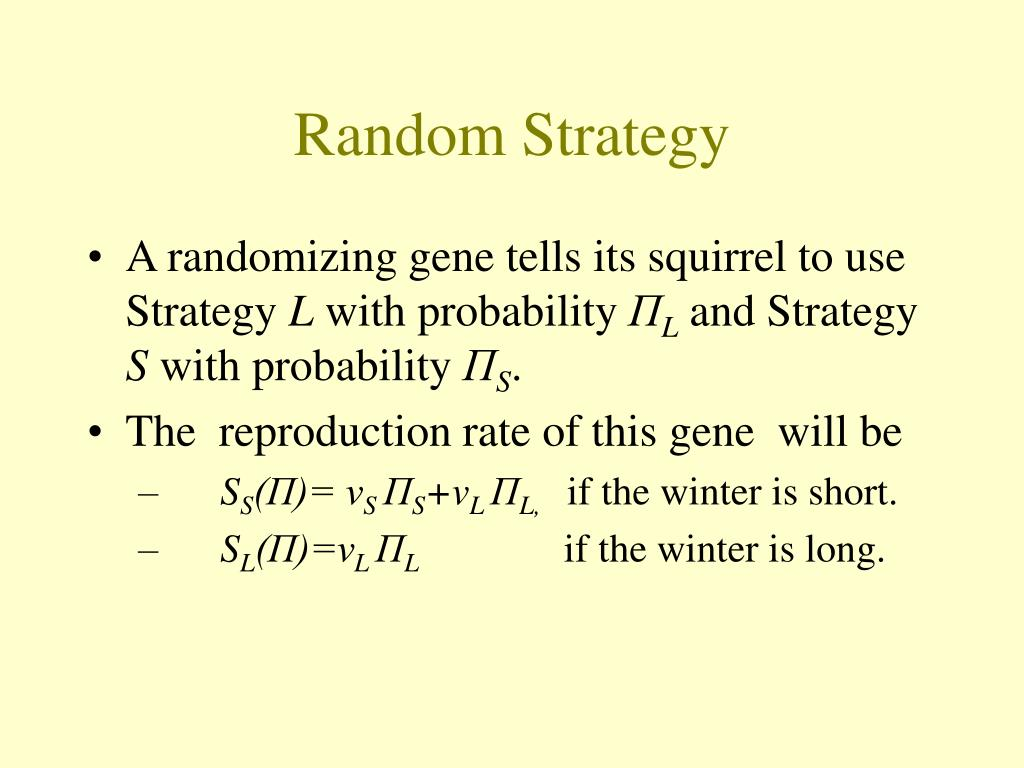 Random Strategy