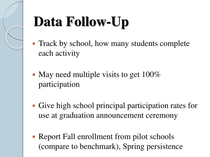 Data Follow-Up