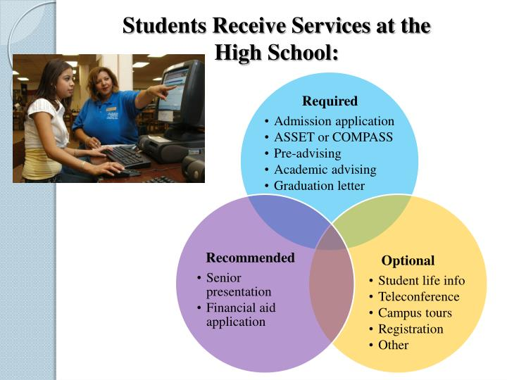 Students Receive Services at the