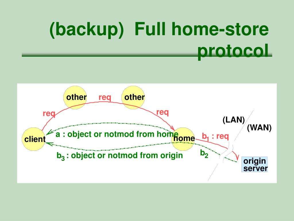(backup)  Full home-store protocol