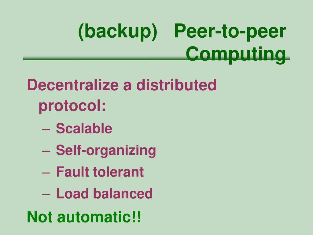 (backup)   Peer-to-peer Computing