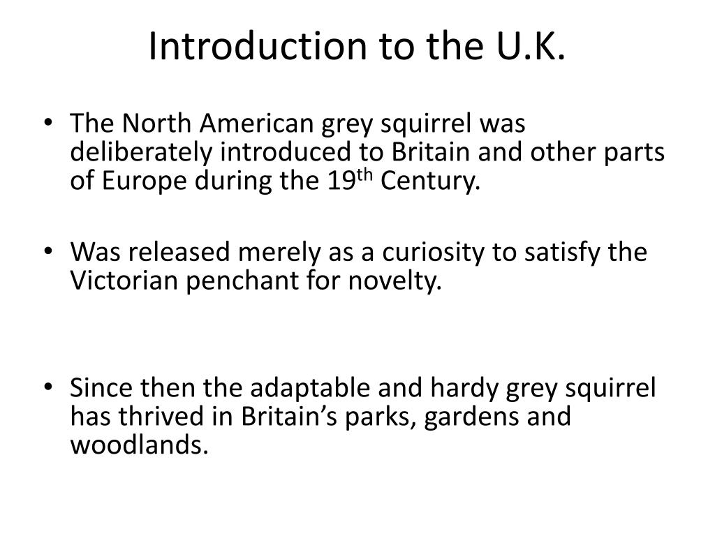 Introduction to the U.K.