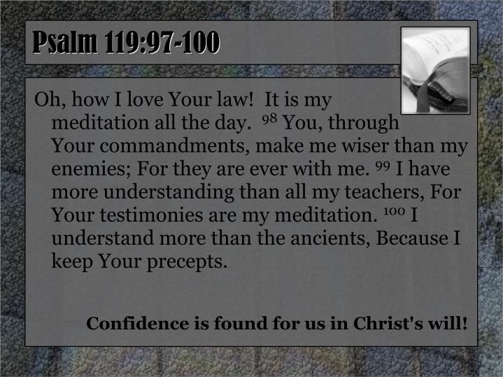 Psalm 119:97-100
