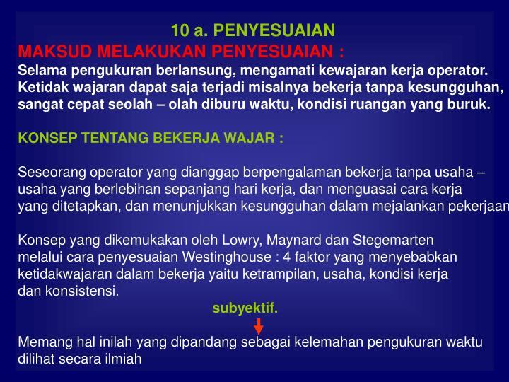 10 a. PENYESUAIAN