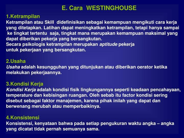 E. Cara  WESTINGHOUSE