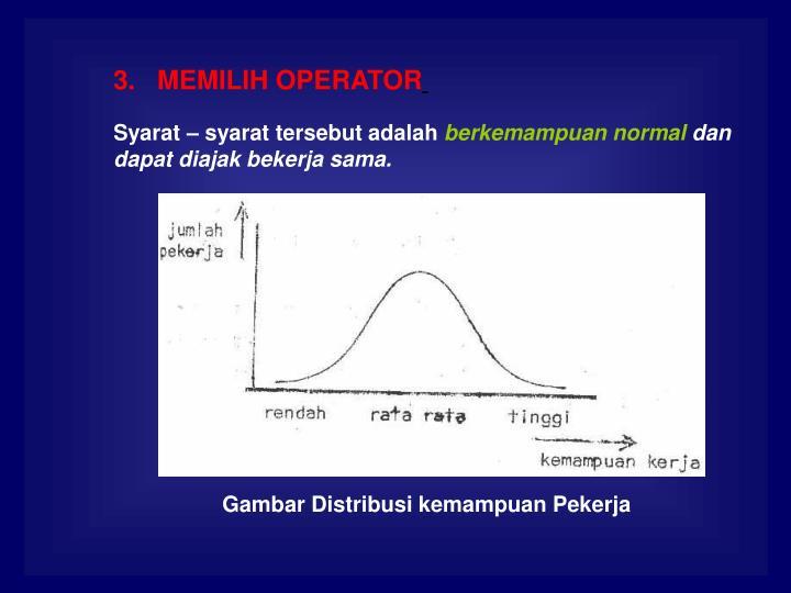3.   MEMILIH OPERATOR