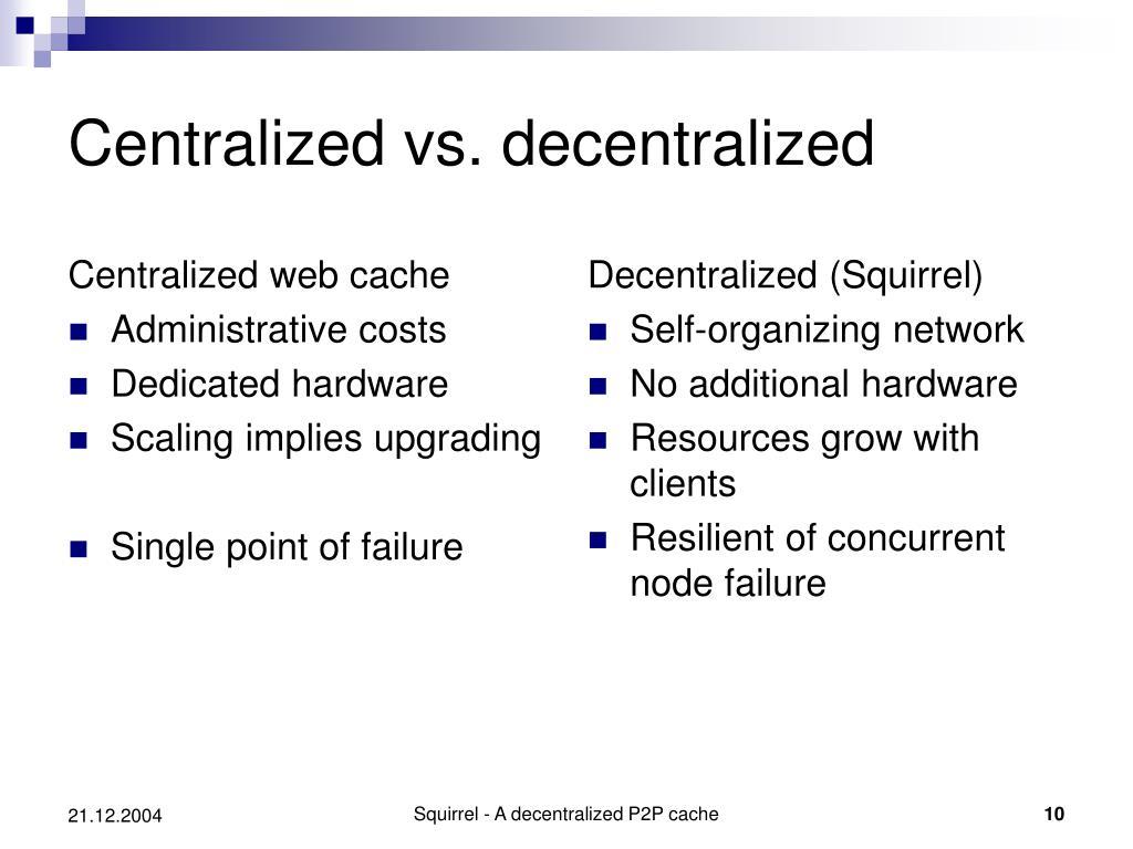 Centralized web cache