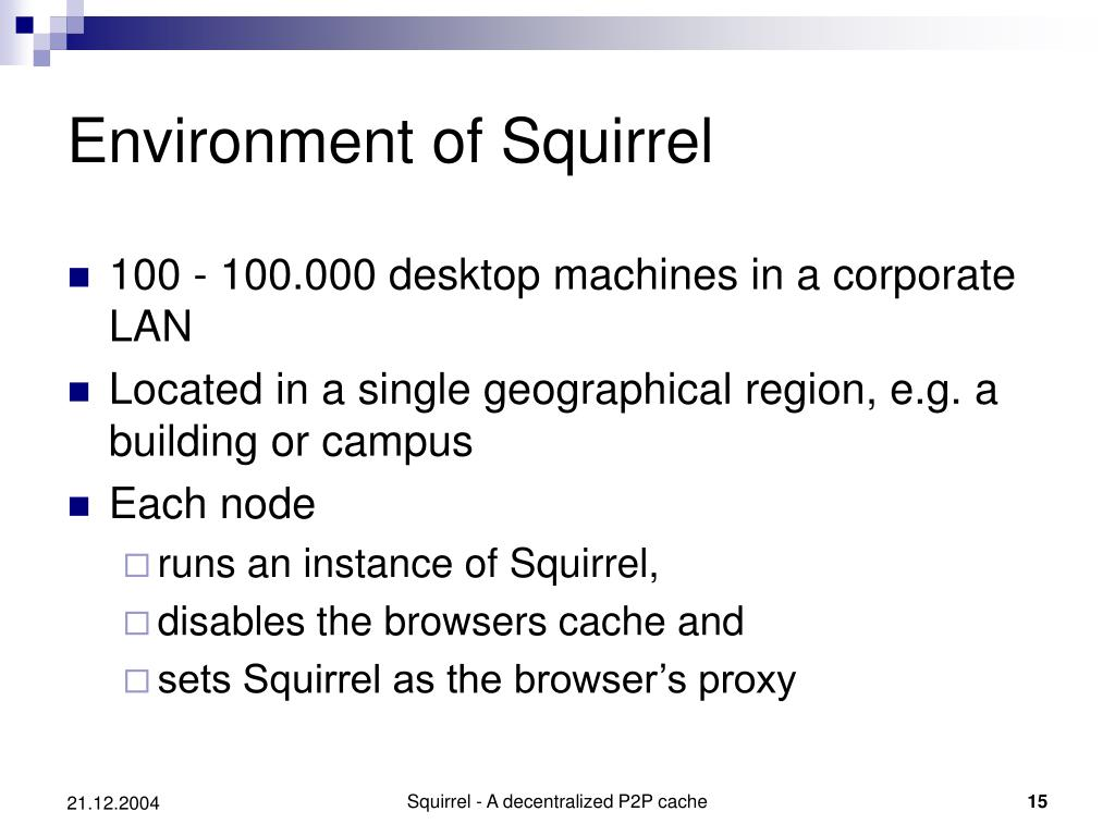 Environment of Squirrel