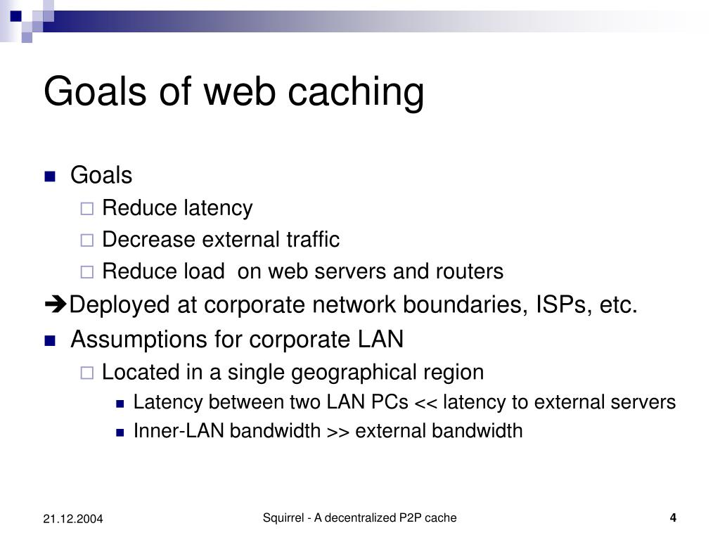 Goals of web caching