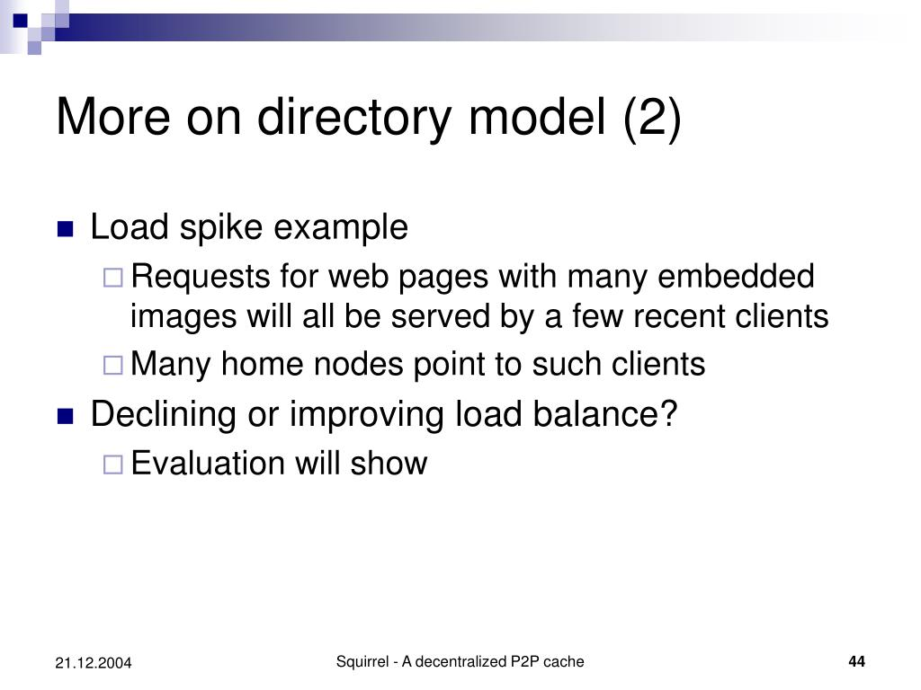More on directory model (2)