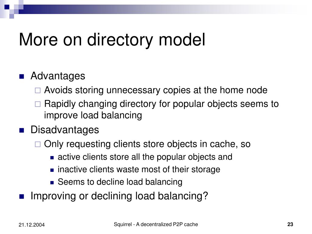 More on directory model