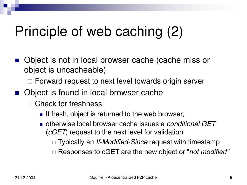 Principle of web caching (2)