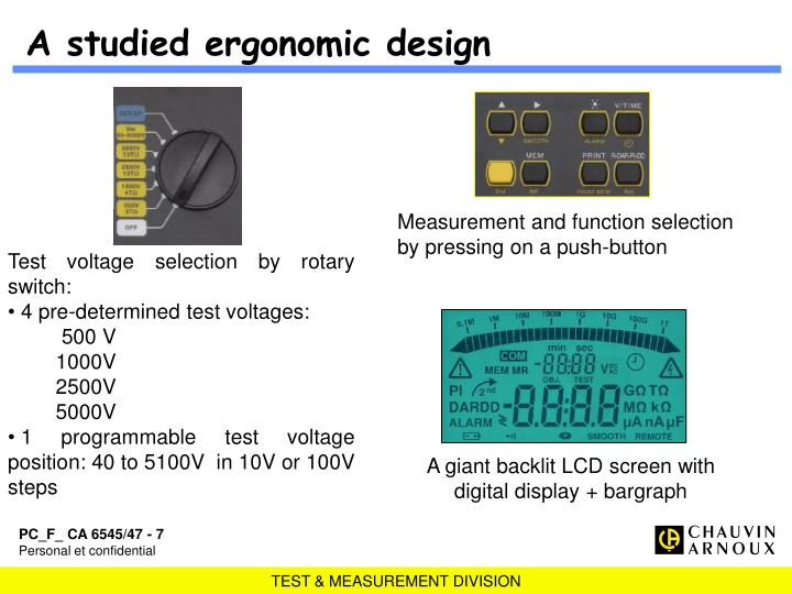 A studied ergonomic design