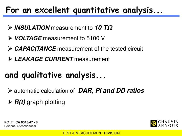 For an excellent quantitative analysis...