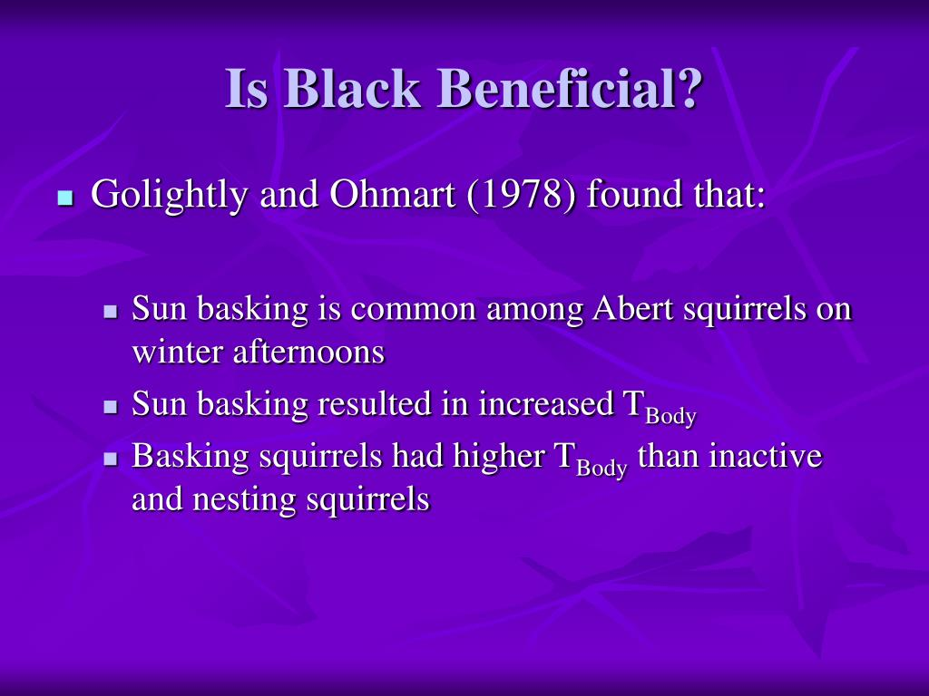Is Black Beneficial?