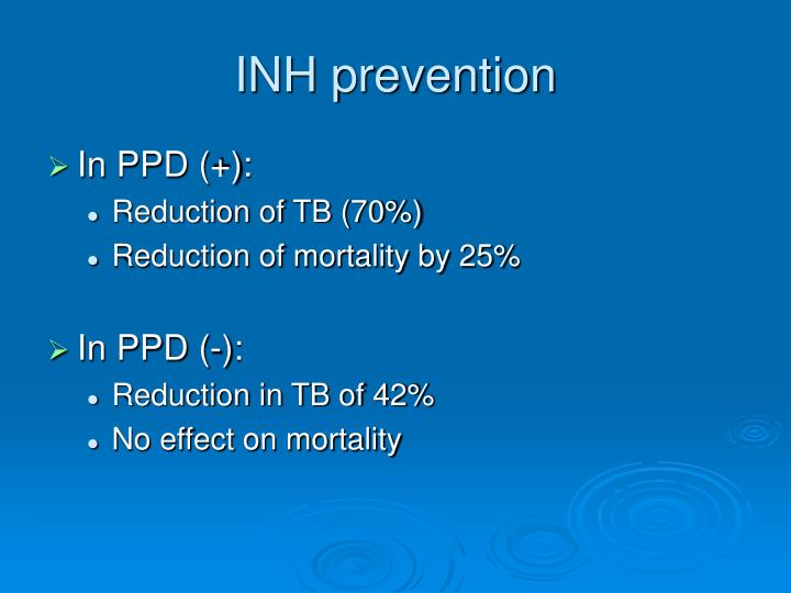 INH prevention