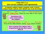 pass gum 3 1 b use correct subject verb agreement