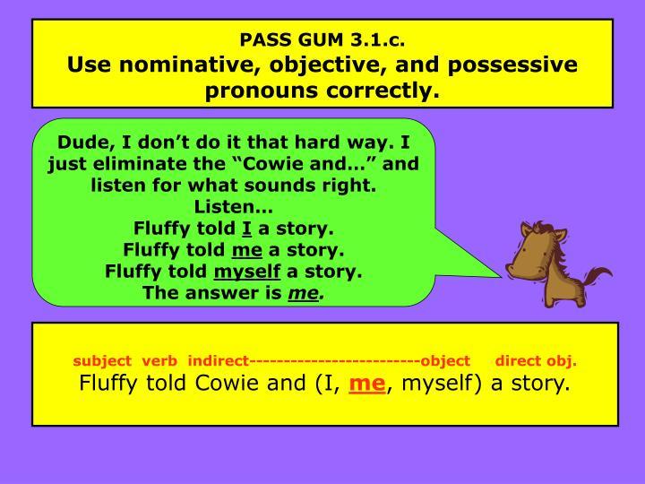 PASS GUM 3.1.c.