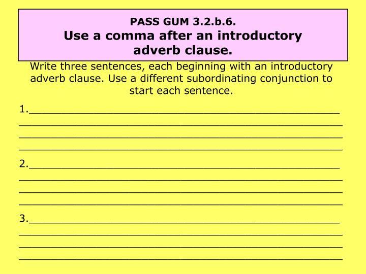 PASS GUM 3.2.b.6.
