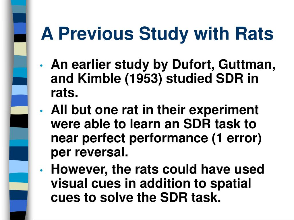 A Previous Study with Rats