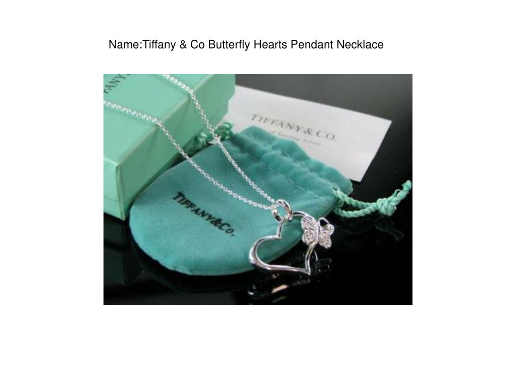 Name:Tiffany & Co Butterfly Hearts Pendant Necklace