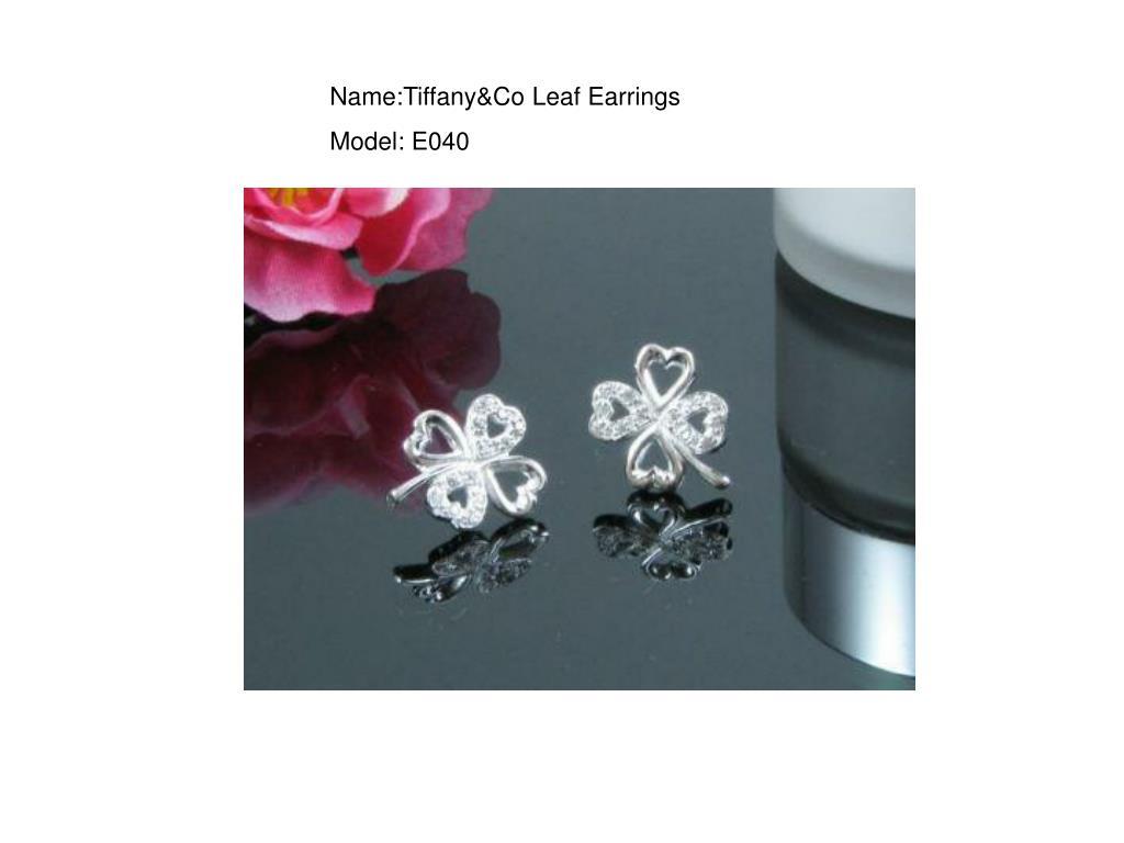 Name:Tiffany&Co Leaf Earrings