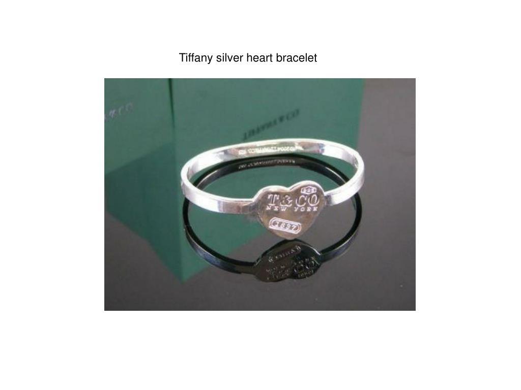 Tiffany silver heart bracelet